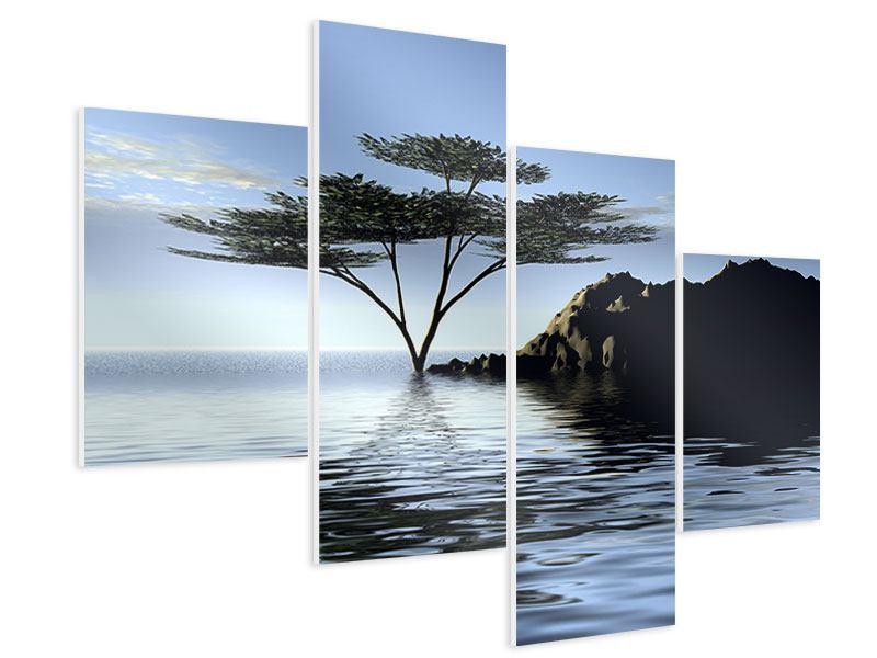 Hartschaumbild 4-teilig modern Naturfaszination