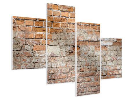 Hartschaumbild 4-teilig modern Alte Klagemauer