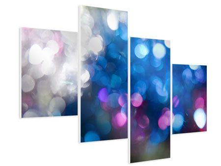 Hartschaumbild 4-teilig modern Abstraktes Licht