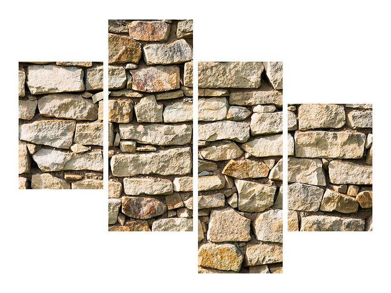 Hartschaumbild 4-teilig modern Natursteine