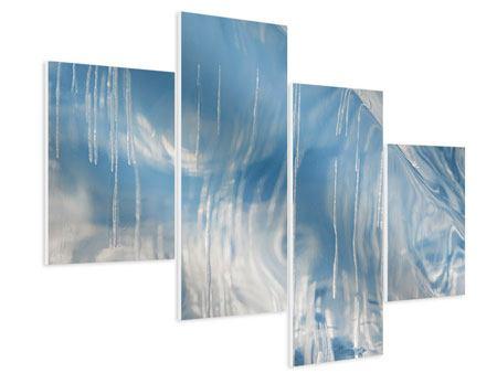 Hartschaumbild 4-teilig modern Das Eis des Baikalsees