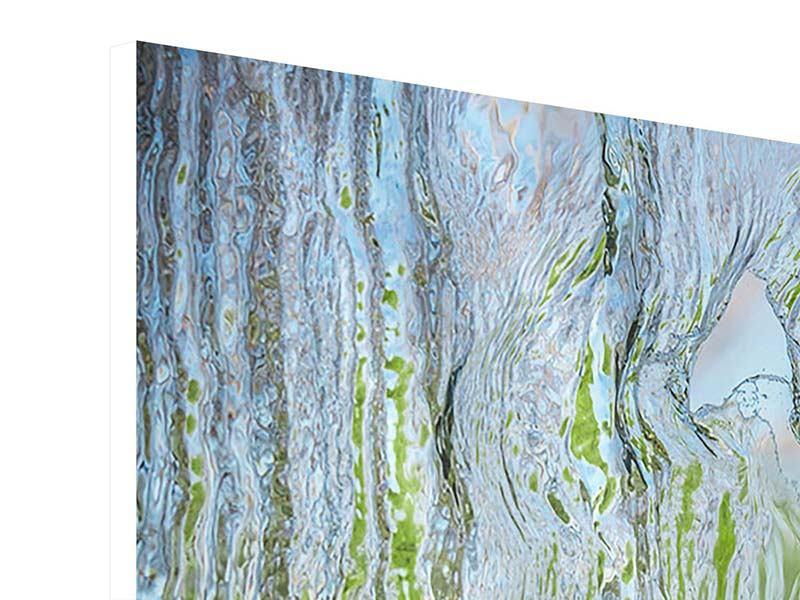 Hartschaumbild 4-teilig modern Hinter dem Wasserfall