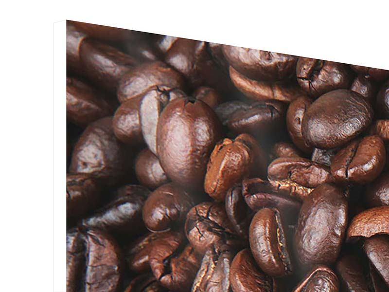 Hartschaumbild 4-teilig modern Kaffeebohnen in XXL