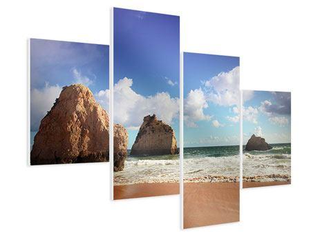 Hartschaumbild 4-teilig modern Strandgedanken