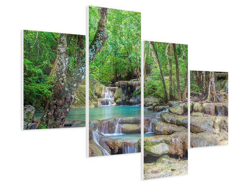 Hartschaumbild 4-teilig modern Wasserspektakel