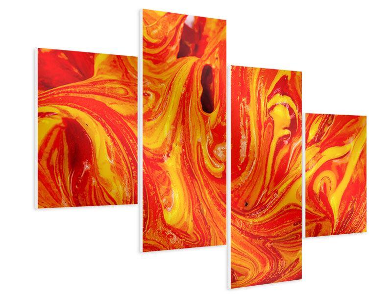 Hartschaumbild 4-teilig modern Wandgemälde