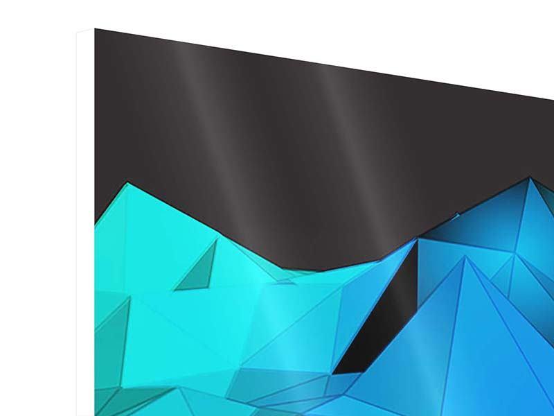Hartschaumbild 4-teilig modern 3D-Diamonds