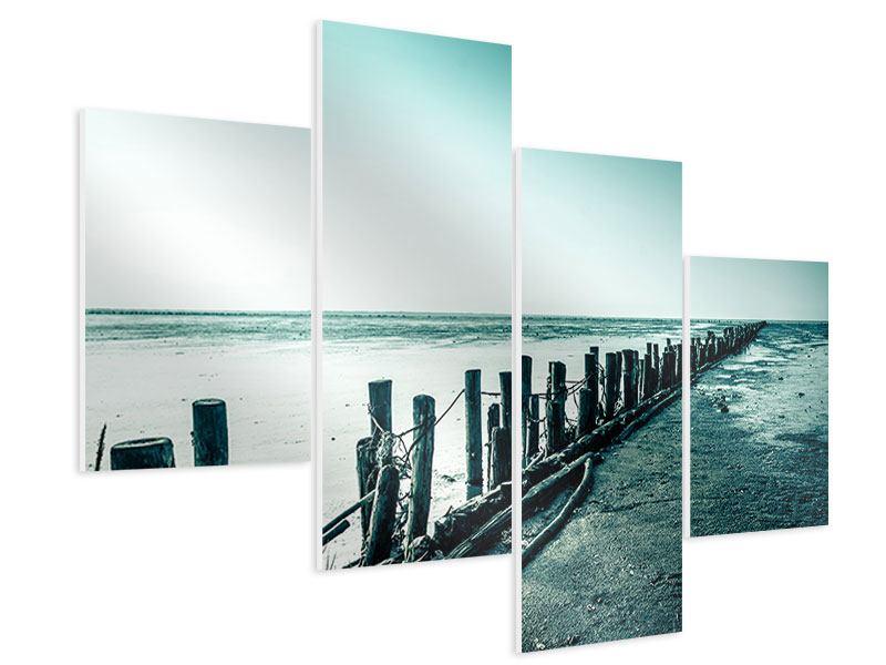 Hartschaumbild 4-teilig modern Das Wattenmeer