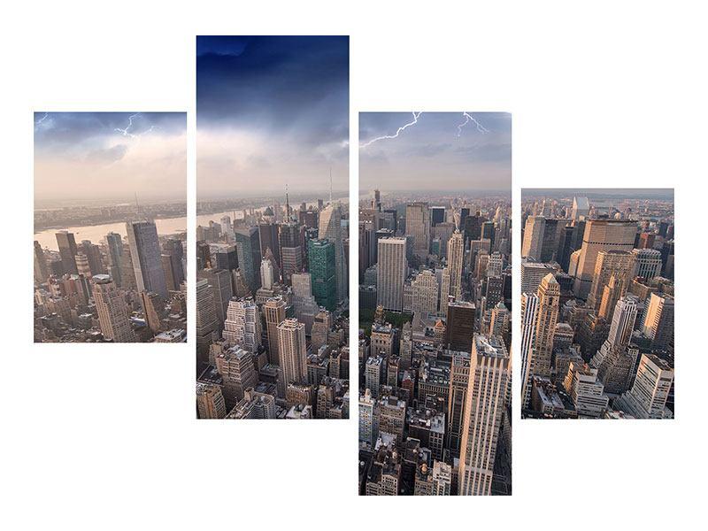 Hartschaumbild 4-teilig modern Manhattan