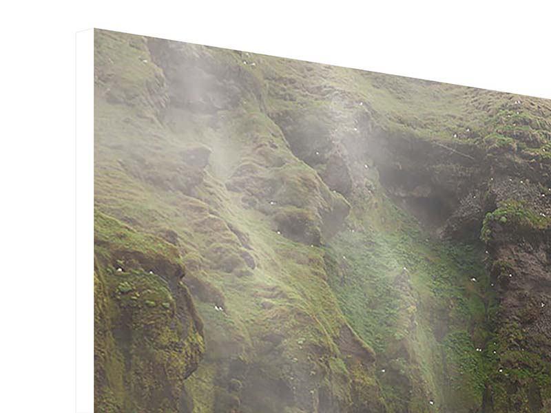 Hartschaumbild 4-teilig modern Skogafoss