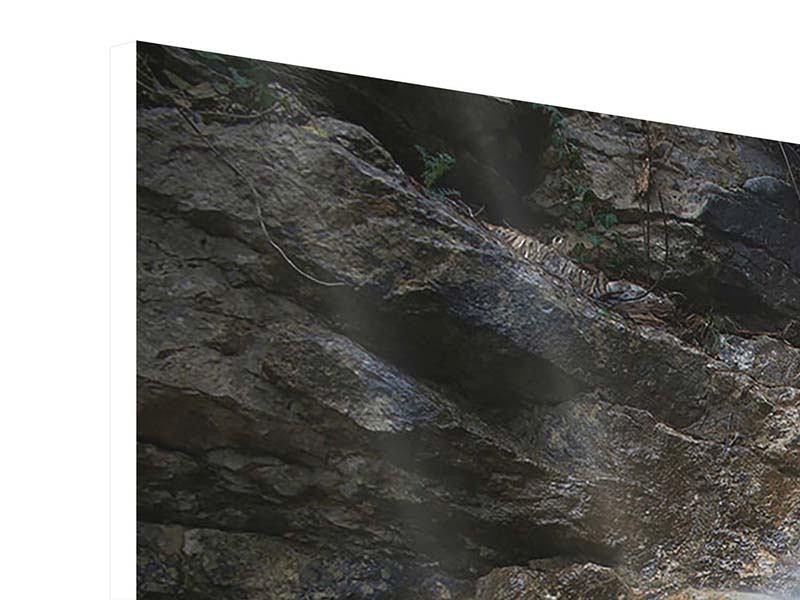Hartschaumbild 4-teilig modern Imposanter Wasserfall