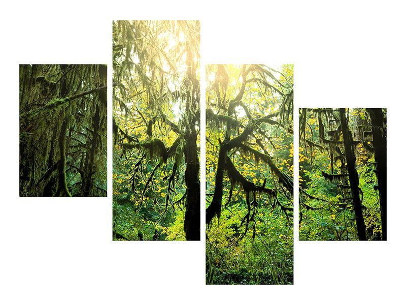 Hartschaumbild 4-teilig modern Verträumter Wald