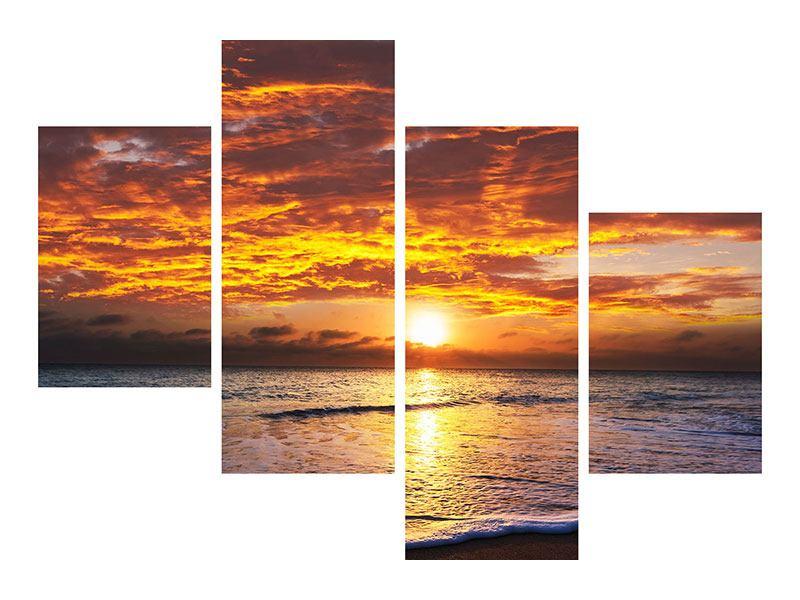 Hartschaumbild 4-teilig modern Entspannung am Meer
