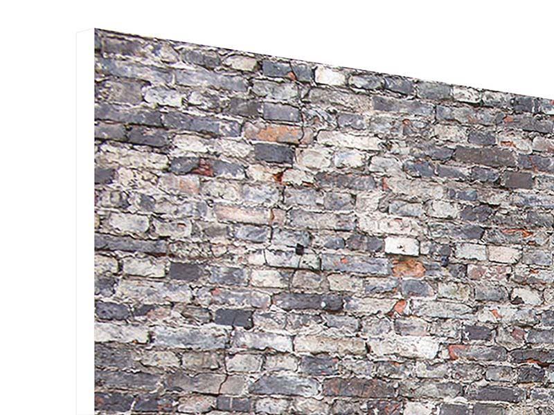 Hartschaumbild 4-teilig modern Alte Backsteine