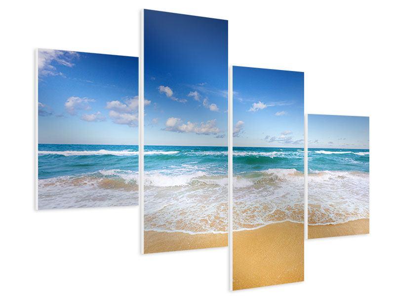 Hartschaumbild 4-teilig modern Die Gezeiten und das Meer