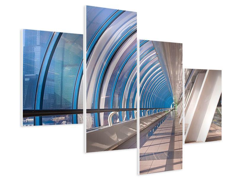 Hartschaumbild 4-teilig modern Hypermoderne Brücke
