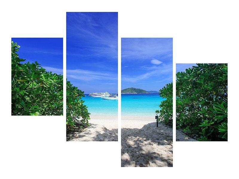 Hartschaumbild 4-teilig modern Similan-Inseln