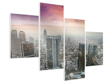 Hartschaumbild 4-teilig modern Skyline Penthouse in New York