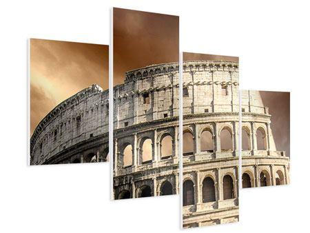 Hartschaumbild 4-teilig modern Kolosseum Rom