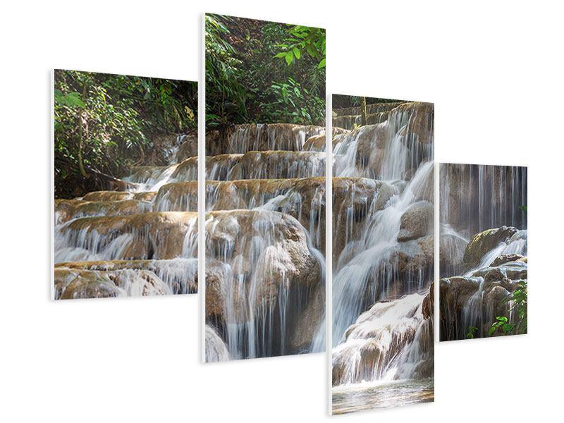 Hartschaumbild 4-teilig modern Mexikanischer Wasserfall