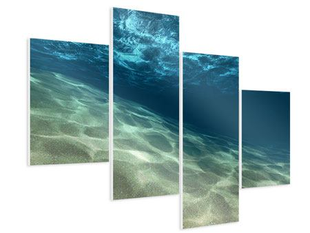 Hartschaumbild 4-teilig modern Unter dem Wasser