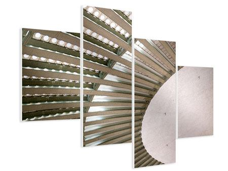 Hartschaumbild 4-teilig modern Abstraktes Rad