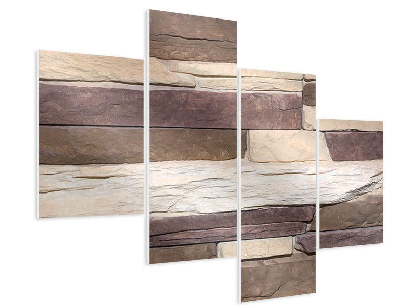 Hartschaumbild 4-teilig modern Designer-Mauer