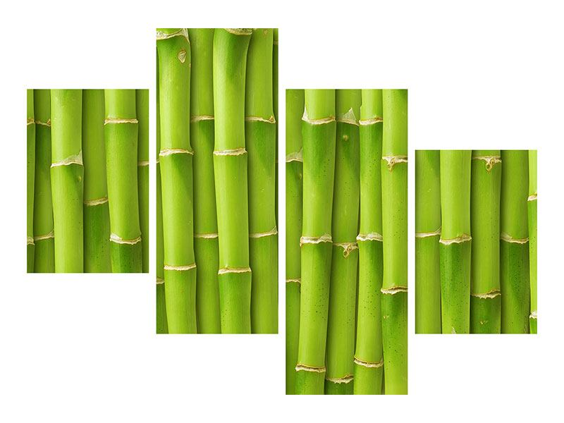 Hartschaumbild 4-teilig modern Bambuswand