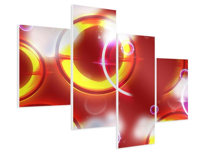Hartschaumbild 4-teilig modern Abstraktes Retro