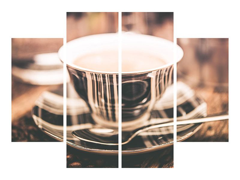 Hartschaumbild 4-teilig Der Kaffee ist fertig