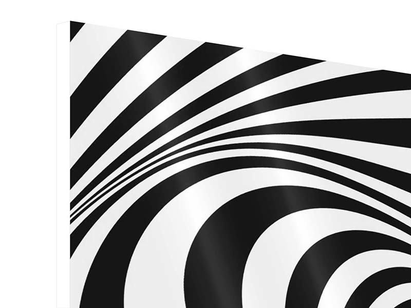 Hartschaumbild 4-teilig Abstrakte Wandbewegung
