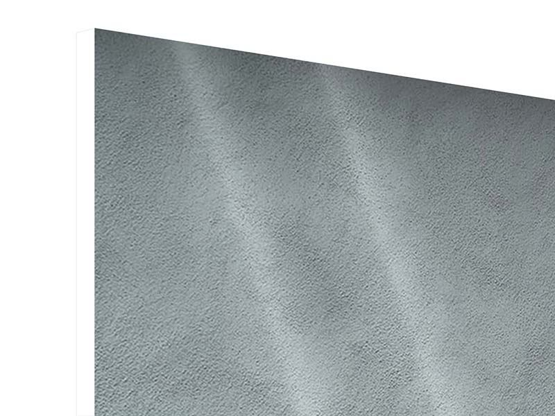 Hartschaumbild 4-teilig Dunkelgraue Wand