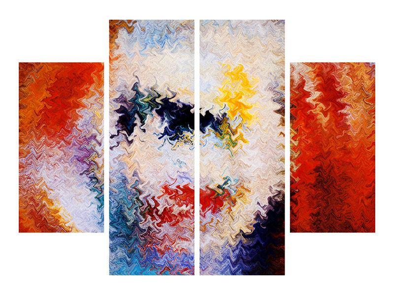 Hartschaumbild 4-teilig Wandmalerei