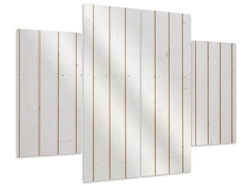 Hartschaumbild 4-teilig Mediterranes Holz