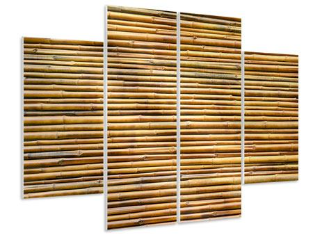 Hartschaumbild 4-teilig Bambus