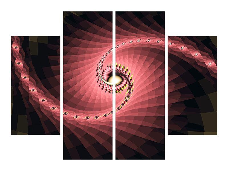 Hartschaumbild 4-teilig Abstrakte Windungen