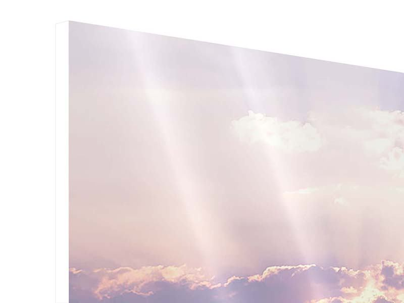 Hartschaumbild 4-teilig Sonnenaufgang am Meer