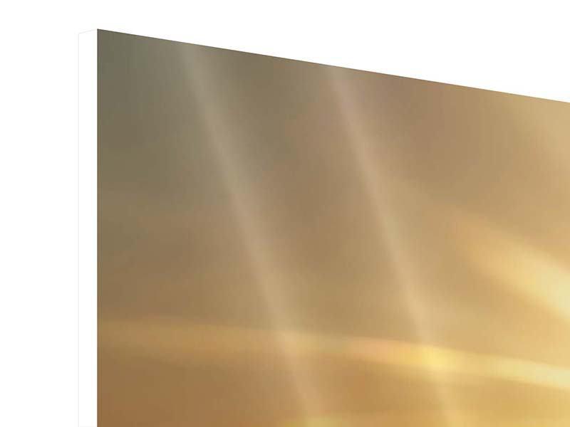 Hartschaumbild 4-teilig Über dem Wolkenmeer