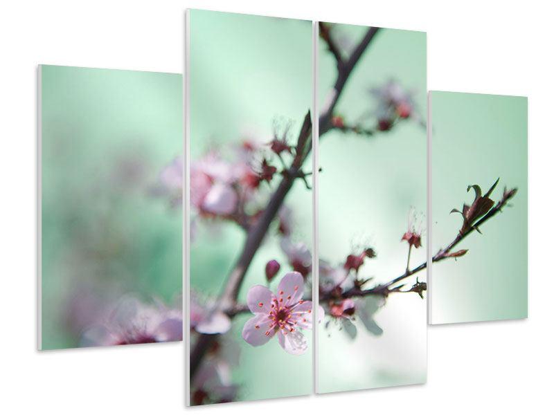 Hartschaumbild 4-teilig Die japanische Kirschblüte