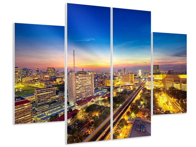 Hartschaumbild 4-teilig Bangkok