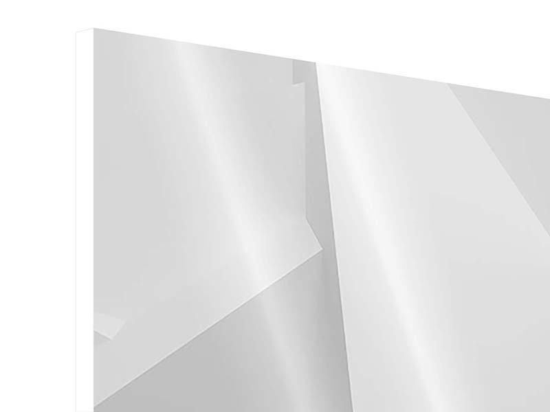 Hartschaumbild 4-teilig 3D-Raster