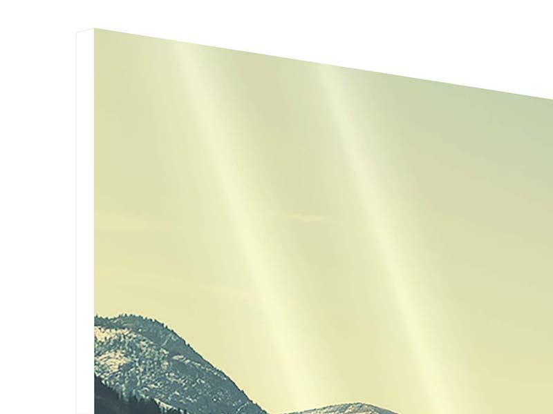 Hartschaumbild 4-teilig Der Bergsee