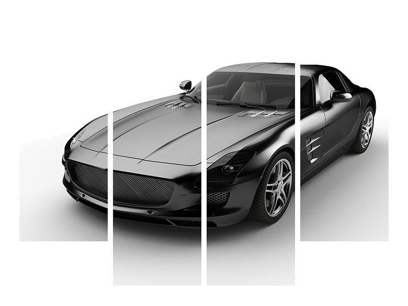 Hartschaumbild 4-teilig 007 Auto