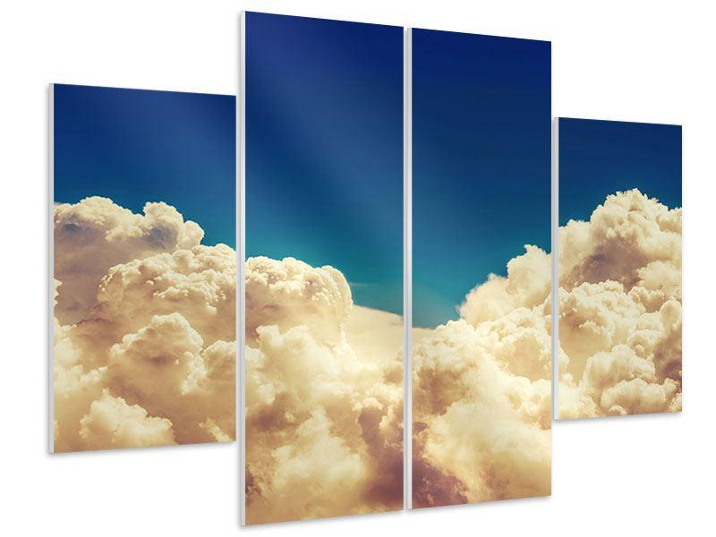Hartschaumbild 4-teilig Himmelswolken