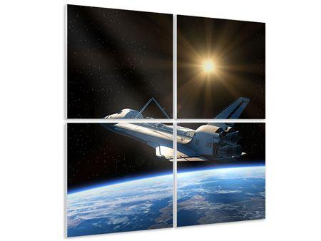 Hartschaumbild 4-teilig Das Raumschiff