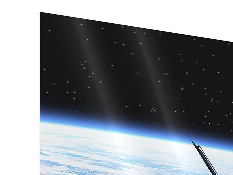 Hartschaumbild 4-teilig Satellit