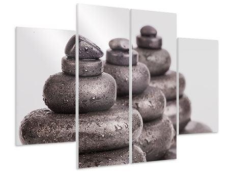 Hartschaumbild 4-teilig Die Kraft der Steine