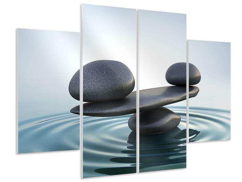 Hartschaumbild 4-teilig Steinbalance