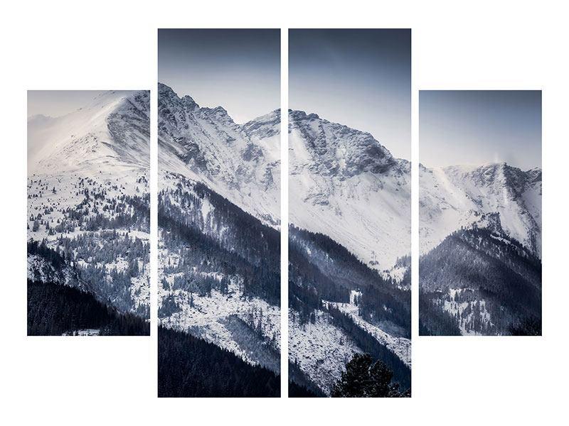 Hartschaumbild 4-teilig Die Berge der Schweiz