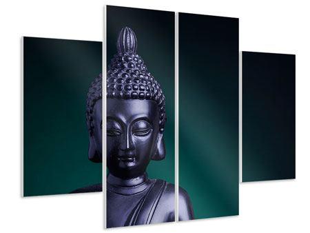 Hartschaumbild 4-teilig Die Weisheit des Buddhas
